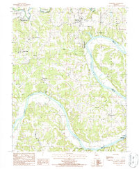 Download a high-resolution, GPS-compatible USGS topo map for Wardsville, MO (1988 edition)