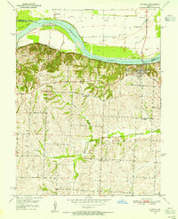 Download a high-resolution, GPS-compatible USGS topo map for Waverly, MO (1955 edition)