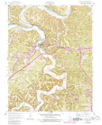 Download a high-resolution, GPS-compatible USGS topo map for Waynesville, MO (1985 edition)