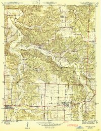 Download a high-resolution, GPS-compatible USGS topo map for Weaubleau, MO (1944 edition)