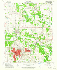 Download a high-resolution, GPS-compatible USGS topo map for Webb City, MO (1964 edition)