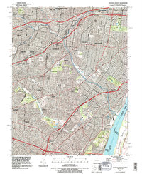 Download a high-resolution, GPS-compatible USGS topo map for Webster Groves, MO (1996 edition)