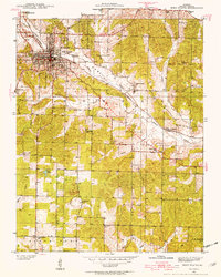 Download a high-resolution, GPS-compatible USGS topo map for West Plains, MO (1954 edition)
