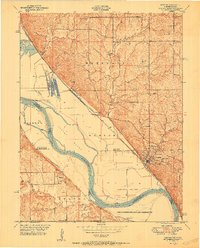 Download a high-resolution, GPS-compatible USGS topo map for Weston, MO (1951 edition)