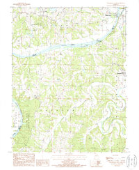 Download a high-resolution, GPS-compatible USGS topo map for Westphalia West, MO (1988 edition)