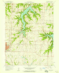 Download a high-resolution, GPS-compatible USGS topo map for Woods Chapel, MO (1958 edition)
