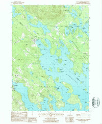 Download a high-resolution, GPS-compatible USGS topo map for Center Harbor, NH (1987 edition)