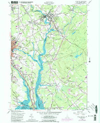 Download a high-resolution, GPS-compatible USGS topo map for Dover East, NH (1989 edition)