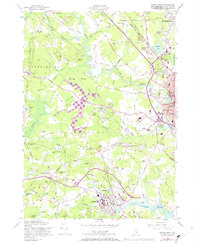 Download a high-resolution, GPS-compatible USGS topo map for Dover West, NH (1974 edition)