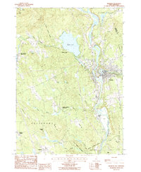 Download a high-resolution, GPS-compatible USGS topo map for Franklin, NH (1987 edition)