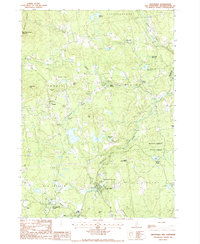 Download a high-resolution, GPS-compatible USGS topo map for Greenville, NH (1987 edition)