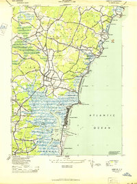 Download a high-resolution, GPS-compatible USGS topo map for Hampton, NH (1944 edition)