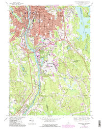 Download a high-resolution, GPS-compatible USGS topo map for Manchester South, NH (1985 edition)