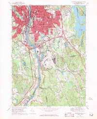 Download a high-resolution, GPS-compatible USGS topo map for Manchester South, NH (1971 edition)