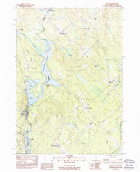 Download a high-resolution, GPS-compatible USGS topo map for Milton, NH (1984 edition)