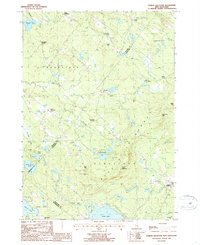 Download a high-resolution, GPS-compatible USGS topo map for Parker Mountain, NH (1987 edition)