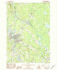Download a high-resolution, GPS-compatible USGS topo map for Rochester, NH (1984 edition)