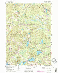 Download a high-resolution, GPS-compatible USGS topo map for Sandown, NH (1989 edition)