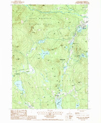Download a high-resolution, GPS-compatible USGS topo map for Silver Lake, NH (1987 edition)