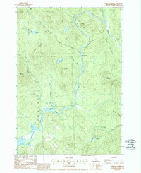 Download a high-resolution, GPS-compatible USGS topo map for Teakettle Ridge, NH (1988 edition)