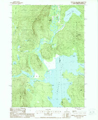 Download a high-resolution, GPS-compatible USGS topo map for Umbagog Lake North, NH (1988 edition)