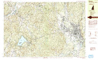 Download a high-resolution, GPS-compatible USGS topo map for Keene, NH (1984 edition)