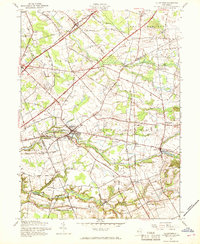 Download a high-resolution, GPS-compatible USGS topo map for Allentown, NJ (1969 edition)