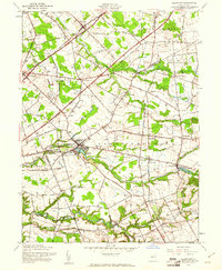 Download a high-resolution, GPS-compatible USGS topo map for Allentown, NJ (1961 edition)