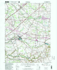 Download a high-resolution, GPS-compatible USGS topo map for Allentown, NJ (1999 edition)