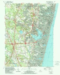 Download a high-resolution, GPS-compatible USGS topo map for Asbury Park, NJ (1989 edition)
