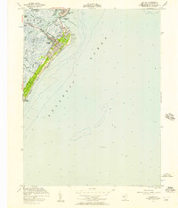 Download a high-resolution, GPS-compatible USGS topo map for Avalon, NJ (1957 edition)