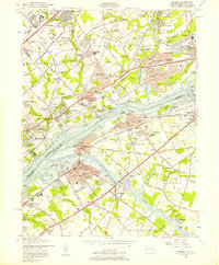 Download a high-resolution, GPS-compatible USGS topo map for Beverly, NJ (1957 edition)