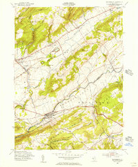 Download a high-resolution, GPS-compatible USGS topo map for Bloomsbury, NJ (1956 edition)