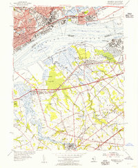 Download a high-resolution, GPS-compatible USGS topo map for Bridgeport, NJ (1955 edition)