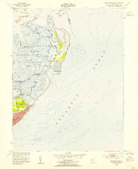 Download a high-resolution, GPS-compatible USGS topo map for Brigantine Inlet, NJ (1954 edition)