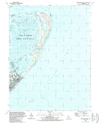 Download a high-resolution, GPS-compatible USGS topo map for Brigantine Inlet, NJ (1989 edition)