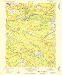 Download a high-resolution, GPS-compatible USGS topo map for Browns Mills, NJ (1951 edition)