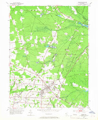 Download a high-resolution, GPS-compatible USGS topo map for Buena, NJ (1967 edition)