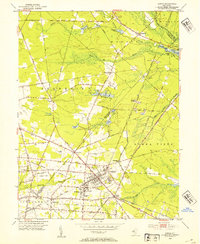 Download a high-resolution, GPS-compatible USGS topo map for Buena, NJ (1954 edition)