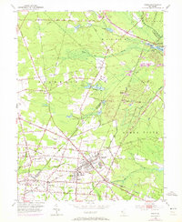 Download a high-resolution, GPS-compatible USGS topo map for Buena, NJ (1972 edition)