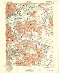Download a high-resolution, GPS-compatible USGS topo map for Camden, NJ (1953 edition)