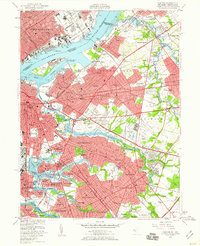 Download a high-resolution, GPS-compatible USGS topo map for Camden, NJ (1960 edition)