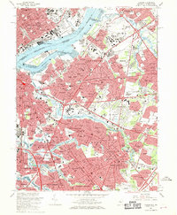 Download a high-resolution, GPS-compatible USGS topo map for Camden, NJ (1970 edition)