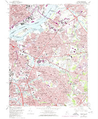 Download a high-resolution, GPS-compatible USGS topo map for Camden, NJ (1974 edition)