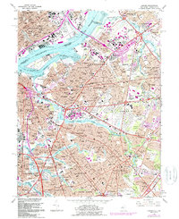 Download a high-resolution, GPS-compatible USGS topo map for Camden, NJ (1988 edition)