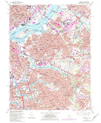 Download a high-resolution, GPS-compatible USGS topo map for Camden, NJ (1984 edition)