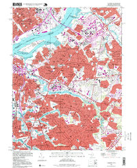 Download a high-resolution, GPS-compatible USGS topo map for Camden, NJ (1999 edition)