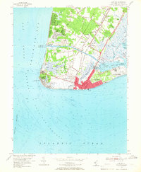 Download a high-resolution, GPS-compatible USGS topo map for Cape May, NJ (1966 edition)