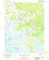 Download a high-resolution, GPS-compatible USGS topo map for Cedarville, NJ (1969 edition)