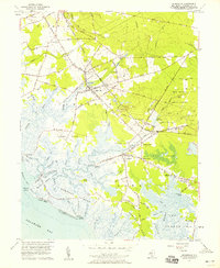 Download a high-resolution, GPS-compatible USGS topo map for Cedarville, NJ (1958 edition)